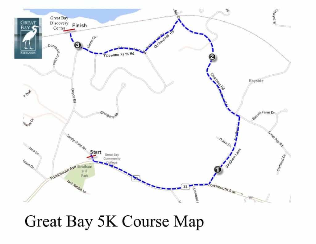 Great Bay 5K Map