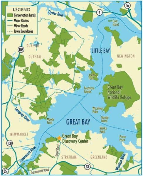 Great Bay Map, NH & ME