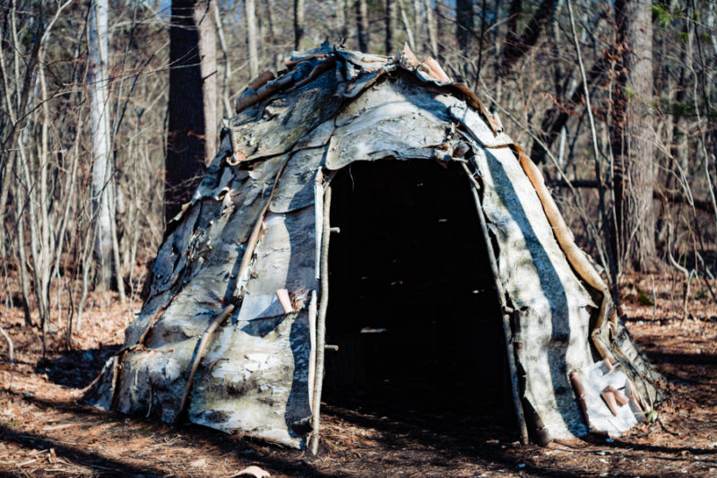 Wigwam constructed